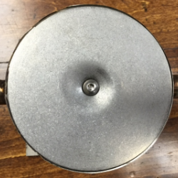 Recessed motorcycle security anchor with cover.