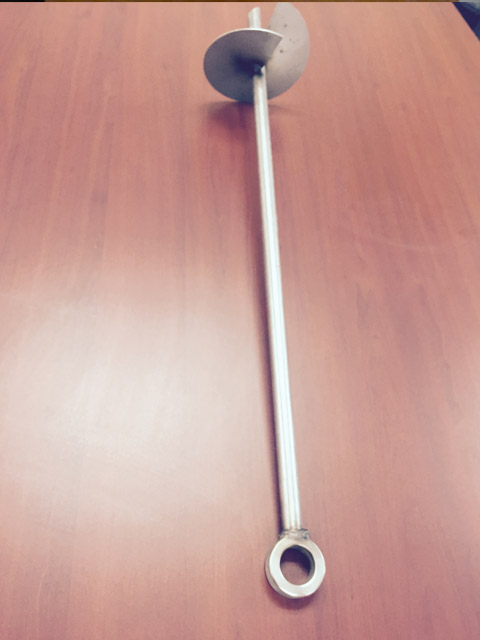 Weldless ring helical anchor.